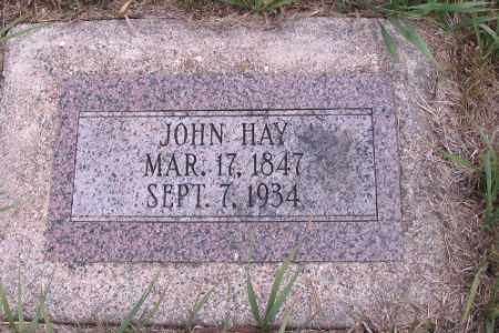 HAY, JOHN - Cass County, North Dakota | JOHN HAY - North Dakota Gravestone Photos