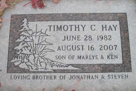 HAY, TIMOTHY C. - Cass County, North Dakota | TIMOTHY C. HAY - North Dakota Gravestone Photos