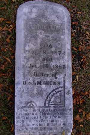 HICKS, MINNIE OLIVA - Cass County, North Dakota   MINNIE OLIVA HICKS - North Dakota Gravestone Photos
