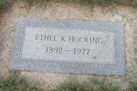 HOCKING, ETHEL K. - Cass County, North Dakota   ETHEL K. HOCKING - North Dakota Gravestone Photos