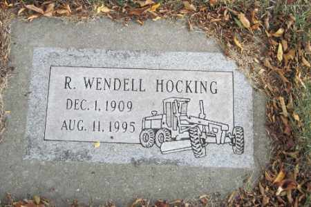 HOCKING, R. WENDELL - Cass County, North Dakota | R. WENDELL HOCKING - North Dakota Gravestone Photos