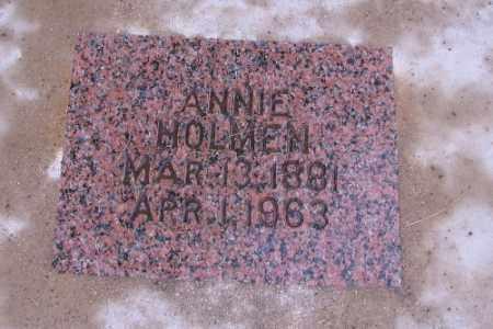 HOLMEN, ANNIE - Cass County, North Dakota | ANNIE HOLMEN - North Dakota Gravestone Photos