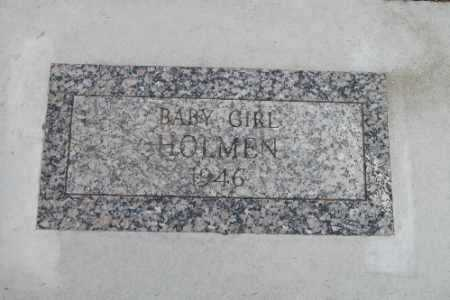 HOLMEN, BABY GIRL - Cass County, North Dakota | BABY GIRL HOLMEN - North Dakota Gravestone Photos