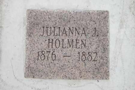 HOLMEN, JULIANNA J. - Cass County, North Dakota   JULIANNA J. HOLMEN - North Dakota Gravestone Photos