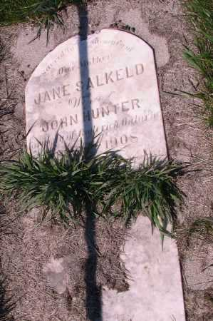 HUNTER, JANE SALKELD - Cass County, North Dakota | JANE SALKELD HUNTER - North Dakota Gravestone Photos