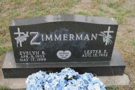 ZIMMERMAN, EVELYN B. - Cass County, North Dakota | EVELYN B. ZIMMERMAN - North Dakota Gravestone Photos