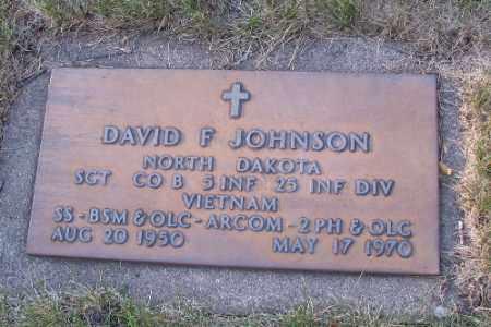 JOHNSON, DAVID F. - Cass County, North Dakota   DAVID F. JOHNSON - North Dakota Gravestone Photos
