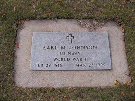 JOHNSON, EARL M. - Cass County, North Dakota | EARL M. JOHNSON - North Dakota Gravestone Photos