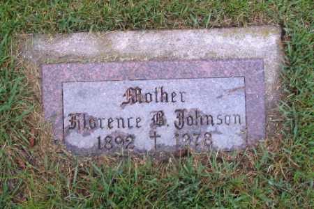 JOHNSON, FLORENCE B. - Cass County, North Dakota | FLORENCE B. JOHNSON - North Dakota Gravestone Photos
