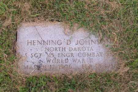 JOHNSON, HENNING D. - Cass County, North Dakota | HENNING D. JOHNSON - North Dakota Gravestone Photos