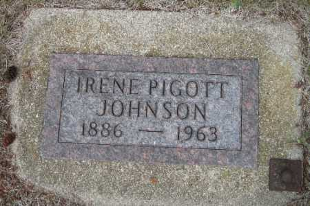 JOHNSON, IRENE PIGOTT - Cass County, North Dakota | IRENE PIGOTT JOHNSON - North Dakota Gravestone Photos