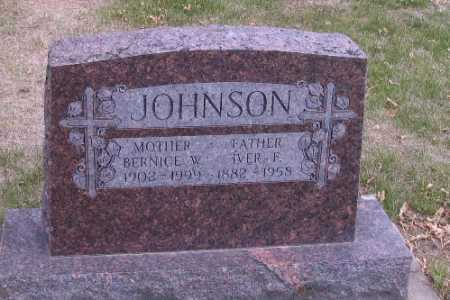 JOHNSON, BERNICE W. - Cass County, North Dakota | BERNICE W. JOHNSON - North Dakota Gravestone Photos
