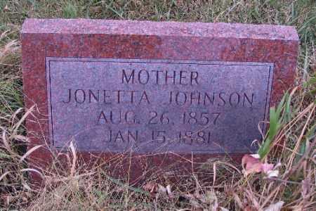 JOHNSON, JONETTA - Cass County, North Dakota   JONETTA JOHNSON - North Dakota Gravestone Photos