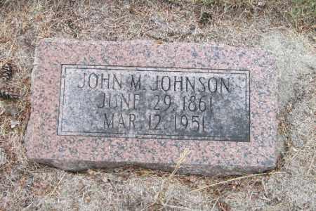 JOHNSON, JOHN M. - Cass County, North Dakota | JOHN M. JOHNSON - North Dakota Gravestone Photos