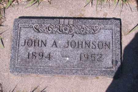 JOHNSON, JOHN A. - Cass County, North Dakota   JOHN A. JOHNSON - North Dakota Gravestone Photos