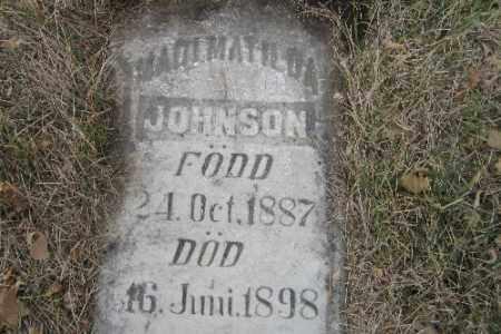 JOHNSON, MADI MATILDA - Cass County, North Dakota | MADI MATILDA JOHNSON - North Dakota Gravestone Photos