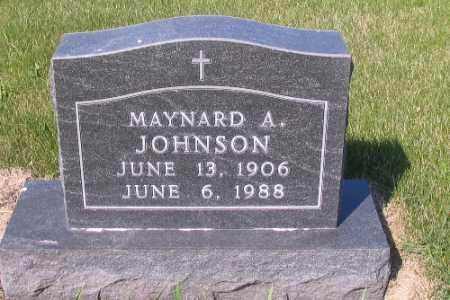 JOHNSON, MAYNARD A. - Cass County, North Dakota | MAYNARD A. JOHNSON - North Dakota Gravestone Photos