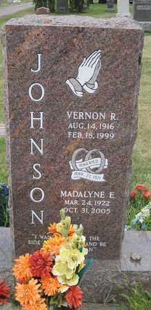JOHNSON, MADALYNE E. - Cass County, North Dakota | MADALYNE E. JOHNSON - North Dakota Gravestone Photos