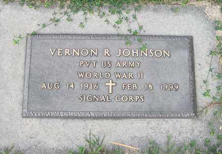 JOHNSON, VERNON R. - Cass County, North Dakota   VERNON R. JOHNSON - North Dakota Gravestone Photos