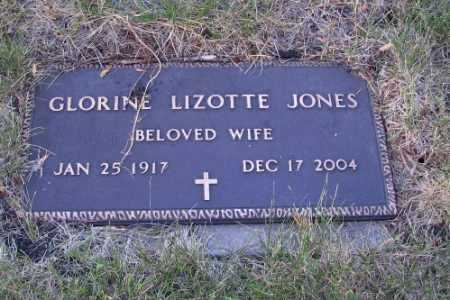 JONES, GLORINE LIZOTTE - Cass County, North Dakota   GLORINE LIZOTTE JONES - North Dakota Gravestone Photos