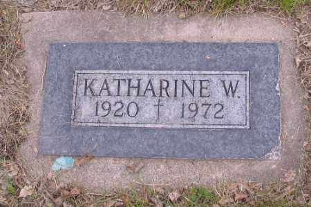JONES, KATHARINE W. - Cass County, North Dakota | KATHARINE W. JONES - North Dakota Gravestone Photos