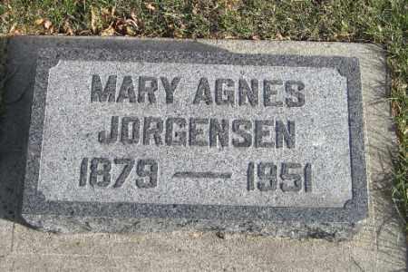 JORGENSEN, MARY AGNES - Cass County, North Dakota   MARY AGNES JORGENSEN - North Dakota Gravestone Photos