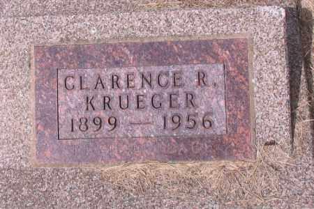 KRUEGER, CLARENCE R. - Cass County, North Dakota   CLARENCE R. KRUEGER - North Dakota Gravestone Photos