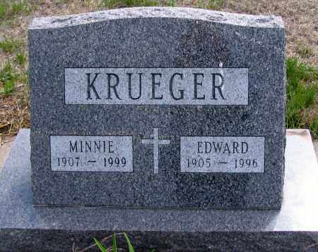 KRUEGER, EDWARD - Cass County, North Dakota | EDWARD KRUEGER - North Dakota Gravestone Photos