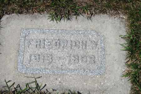 KRUEGER, FRIEDRICH W. - Cass County, North Dakota | FRIEDRICH W. KRUEGER - North Dakota Gravestone Photos