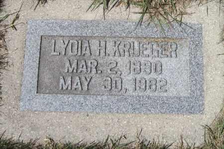KRUEGER, LYDIA H. - Cass County, North Dakota | LYDIA H. KRUEGER - North Dakota Gravestone Photos