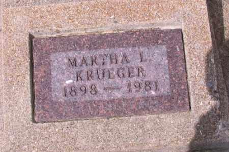 KRUEGER, MARTHA L. - Cass County, North Dakota   MARTHA L. KRUEGER - North Dakota Gravestone Photos
