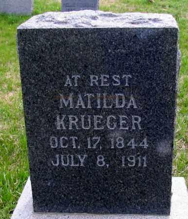 KRUEGER, MATILDA - Cass County, North Dakota | MATILDA KRUEGER - North Dakota Gravestone Photos