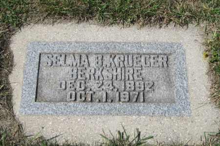 KRUEGER, SELMA B. - Cass County, North Dakota | SELMA B. KRUEGER - North Dakota Gravestone Photos