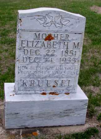KRUESEL, ELIZABETH M. - Cass County, North Dakota | ELIZABETH M. KRUESEL - North Dakota Gravestone Photos