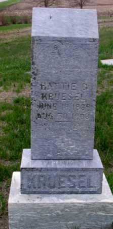 KRUESEL, HATTIE - Cass County, North Dakota | HATTIE KRUESEL - North Dakota Gravestone Photos
