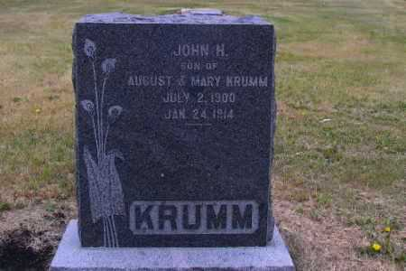 KRUMM, JOHN H. - Cass County, North Dakota   JOHN H. KRUMM - North Dakota Gravestone Photos