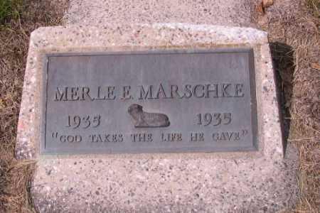 MARSCHKE, MERLE E. - Cass County, North Dakota   MERLE E. MARSCHKE - North Dakota Gravestone Photos