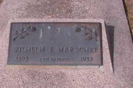 MARSCHKE, WILHELM F. - Cass County, North Dakota | WILHELM F. MARSCHKE - North Dakota Gravestone Photos