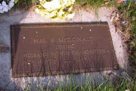 MCDONALD, HAL B. - Cass County, North Dakota | HAL B. MCDONALD - North Dakota Gravestone Photos