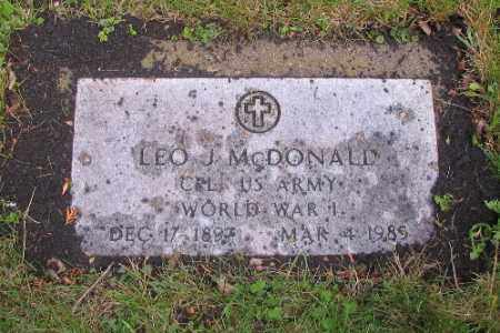 MCDONALD, LEO J. - Cass County, North Dakota | LEO J. MCDONALD - North Dakota Gravestone Photos