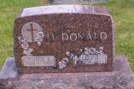 MCDONALD, AGNES E. - Cass County, North Dakota | AGNES E. MCDONALD - North Dakota Gravestone Photos