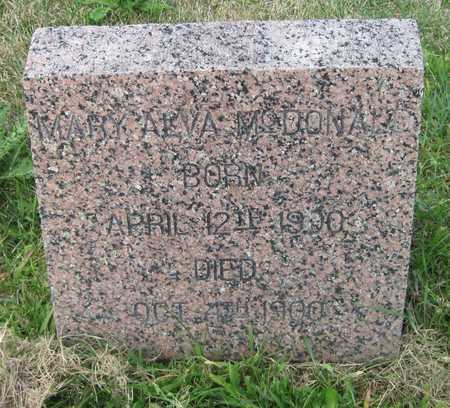 MCDONALD, MARY ALVA - Cass County, North Dakota | MARY ALVA MCDONALD - North Dakota Gravestone Photos