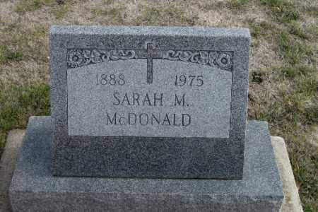 MCDONALD, SARAH M. - Cass County, North Dakota | SARAH M. MCDONALD - North Dakota Gravestone Photos