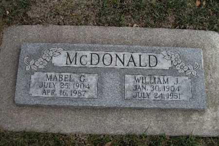 MCDONALD, WILLIAM J. - Cass County, North Dakota | WILLIAM J. MCDONALD - North Dakota Gravestone Photos