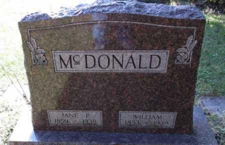 MCDONALD, JANE P. - Cass County, North Dakota | JANE P. MCDONALD - North Dakota Gravestone Photos