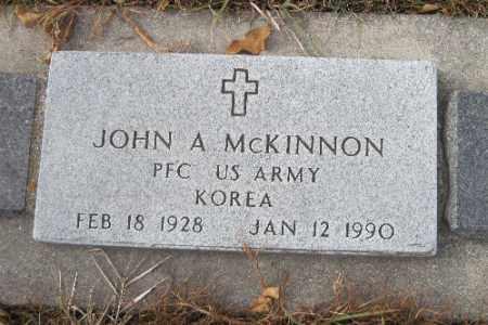 MCKINNON, JOHN A. - Cass County, North Dakota | JOHN A. MCKINNON - North Dakota Gravestone Photos