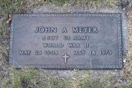MEYER, JOHN A. - Cass County, North Dakota   JOHN A. MEYER - North Dakota Gravestone Photos