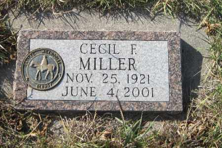 MILLER, CECIL F. - Cass County, North Dakota | CECIL F. MILLER - North Dakota Gravestone Photos