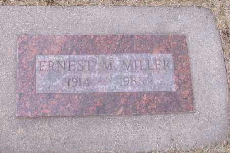 MILLER, ERNEST M. - Cass County, North Dakota   ERNEST M. MILLER - North Dakota Gravestone Photos