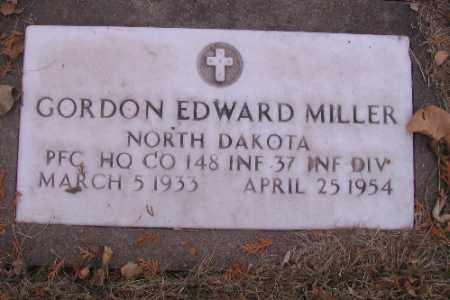 MILLER, GORDON EDWARD - Cass County, North Dakota | GORDON EDWARD MILLER - North Dakota Gravestone Photos